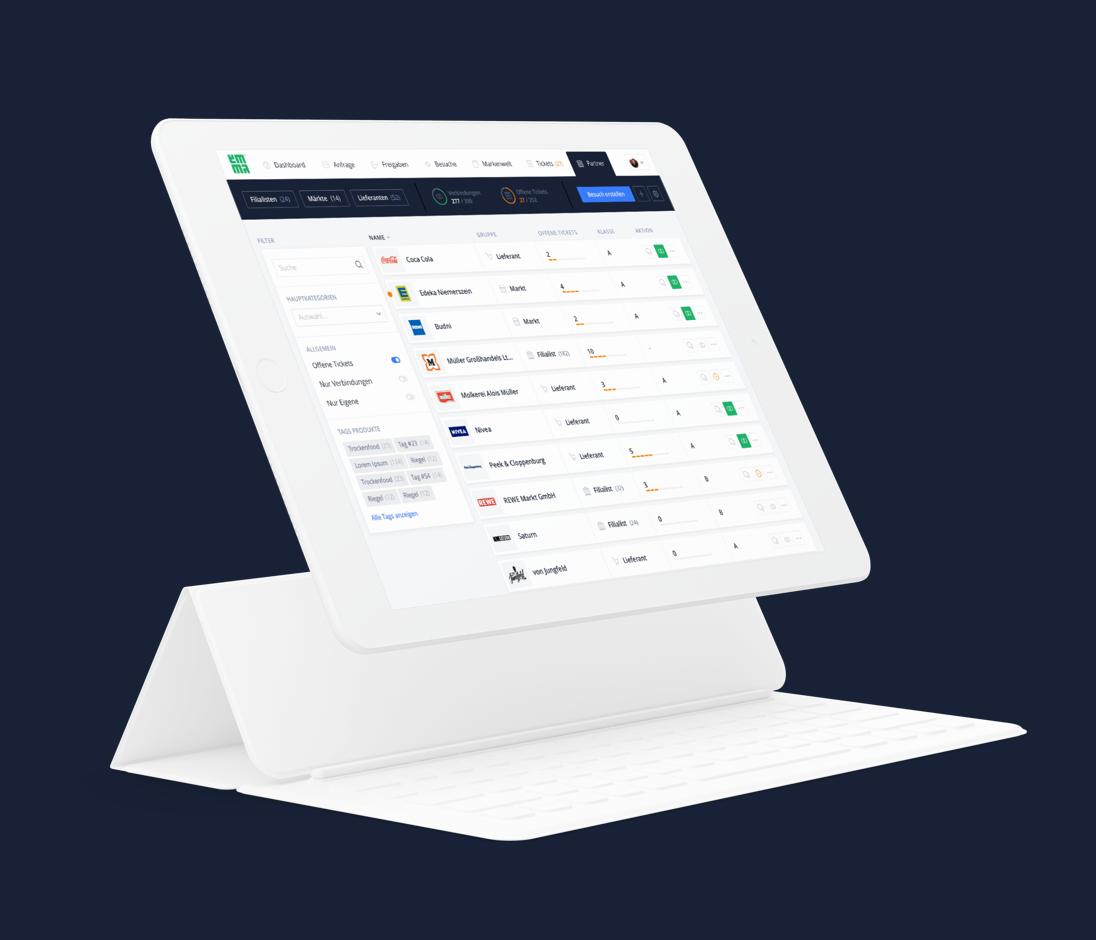 emma - Web App für den Handelsvertrieb